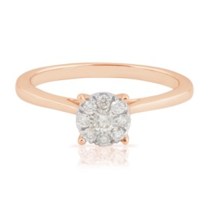 0.23 Ctw Classic Round Brilliant Cut Real Natural White Diamond Engagement Ring - Custom Made By Yaffie™