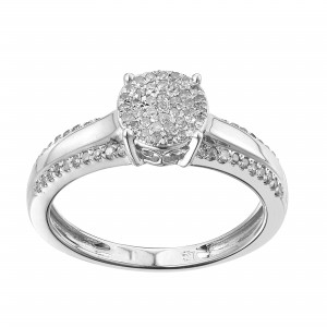 Gold White 1/4ct TDW Diamond Promise Ring - Custom Made By Yaffie™