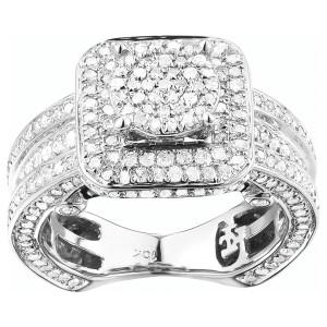 White Gold 1 1/5ct TDW Diamond Engagement Ring Set - Custom Made By Yaffie™