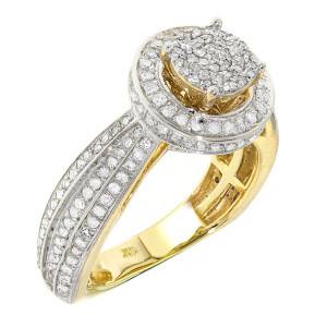 Gold 1.05ct TDW Diamond Ring - Custom Made By Yaffie™