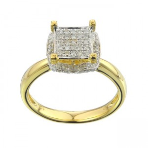 Gold 1/3ct TDW Diamond Ring - Custom Made By Yaffie™