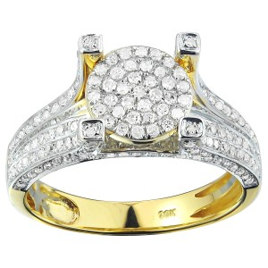 Yellow Solid Gold 4/5ct Diamond Engagement Ring - Custom Made By Yaffie™