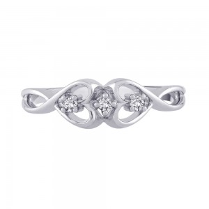 White Gold Diamond Promise Ring - Custom Made By Yaffie™