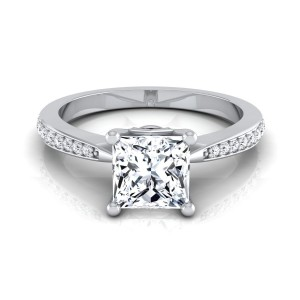 White Gold 1 1/8ct Princess Diamond Solitaire Engagement Ring - Custom Made By Yaffie™