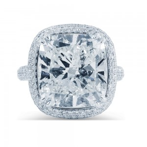 White Gold 11 2/5ctTDW Diamond Halo Ring - Custom Made By Yaffie™