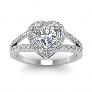 White Gold 1/2ct Heart-cut Diamond Engagement Rings by Fascinating Diamonds - Custom Made By Yaffie™