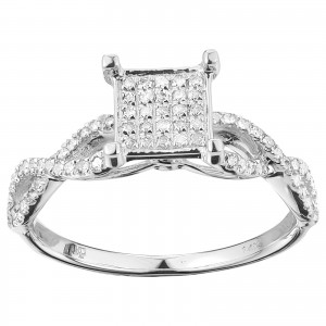 White Gold 1/2ct TDW Elegant Diamond Ring - Custom Made By Yaffie™