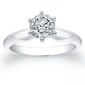White Gold 1ct TDW Certified Diamond Solitaire Engagement Ring - Custom Made By Yaffie™