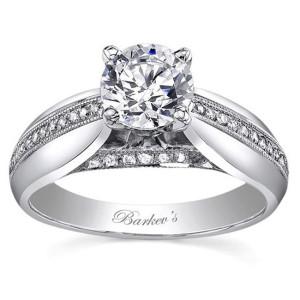 White Gold 1ct TDW Diamond Designer Engagement Ring - Custom Made By Yaffie™