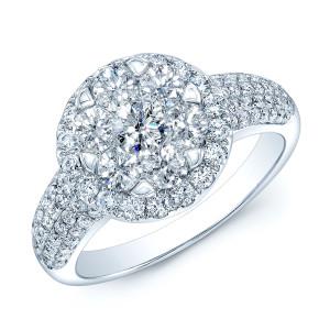 White Gold 2 1/3ct TDW Diamond Bridal Ring - Custom Made By Yaffie™