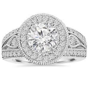 White Gold 2 3/4ct TDW Clarity Enhanced Diamond Engagement Ring - Custom Made By Yaffie™