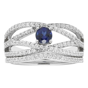 White Gold 3/4ct Diamond Bridal Set - Custom Made By Yaffie™