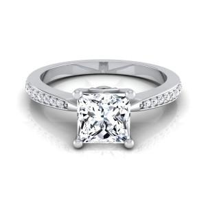 White Gold 5/8ct TDW White Diamond Engagement Ring - Custom Made By Yaffie™