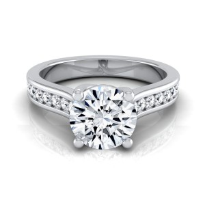 White Gold IGI-certified 1 1/3ct TDW Round Diamond Solitaire Engagement Ring - Custom Made By Yaffie™