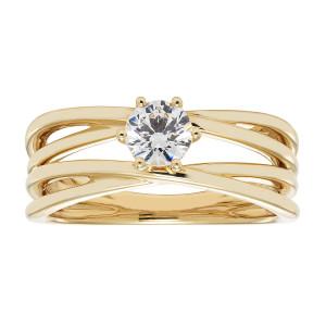 Gold IGI-certified 1/2ct TDW Round Diamond Bridal Ring Set - Custom Made By Yaffie™