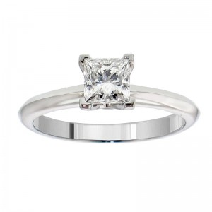 or White Gold or Platinum 3/4ct TDW GIA Certified Diamond Solitaire Engagement Ring - Custom Made By Yaffie™