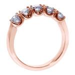 14k/Rose Gold 1ct TDW Split Prong Diamond Anniversary Wedding Ring - Custom Made By Yaffie™