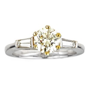 Two-tone Gold 1 1/3ct TDW Fancy Yellow Diamond Engagement Ring - Custom Made By Yaffie™