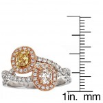 Two-tone Gold 1 1/3ct TDW Yellow/ Pink/ White Diamond Ring - Custom Made By Yaffie™