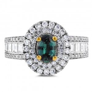 White or Gold Fine Brazilian Alexandrite and 1 1/3 ct TDW Diamond Ring by La Vita Vital - Custom Made By Yaffie™