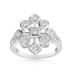 White Gold 1/3ct TDW Diamond Ring - Custom Made By Yaffie™