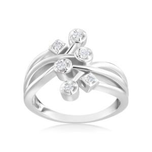 White Gold 1/6ct TDW Diamond Fashion Ring - Custom Made By Yaffie™