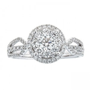 Anika and August White Gold 1ct TDW Diamond Ring - Custom Made By Yaffie™