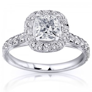 White Gold 1 2/5ct TDW Diamond Engagement Ring - Custom Made By Yaffie™