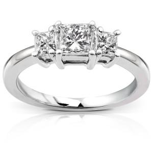 Gold 1ct Princess Diamond 3-stone Ring - Custom Made By Yaffie™