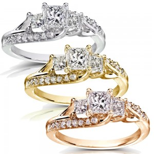 Gold 1ct TDW Diamond Engagement Ring - Custom Made By Yaffie™