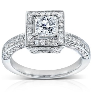 White Gold 1 1/2ct TDW Diamond Engagement Ring - Custom Made By Yaffie™