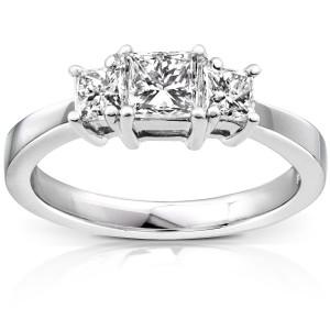 White Gold 1ct TDW Diamond Engagement Ring - Custom Made By Yaffie™