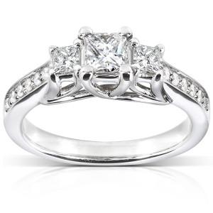 White Gold 5/8ct TDW Diamond Engagement Ring - Custom Made By Yaffie™