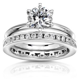 White Gold Certified 1 1/2ct Diamond Eco-Friendly Lab Grown Diamond Bridal Set - Custom Made By Yaffie™