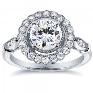 White Gold Certified 1 1/3ct Diamond Eco-Friendly Lab Grown Diamond Blooming Flower Ring - Custom Made By Yaffie™
