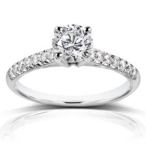 White Gold Certified 1 1/6ct TDW Diamond Eco-Friendly Lab Grown Diamond Engag - Custom Made By Yaffie™