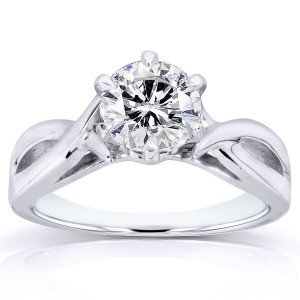 White Gold Certified 1ct Diamond Eco-Friendly Lab Grown Diamond Solitaire Cri - Custom Made By Yaffie™