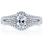 White Gold Certified Oval 1ct TDW Diamond Ring - Custom Made By Yaffie™