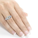 Platinum 1 1/2ct TDW Old Mine Cut Cushion Diamond Antique Ring - Custom Made By Yaffie™
