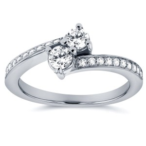 Two Collection White Gold 2/5ct TDW 2-stone Diamond Ring - Custom Made By Yaffie™