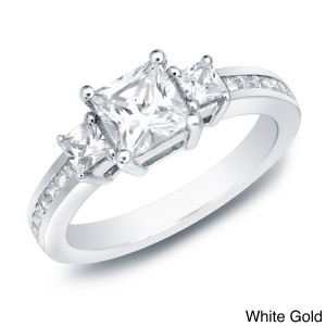 Gold 1 1/2ct TDW Certified Diamond Engagement Ring - Custom Made By Yaffie™