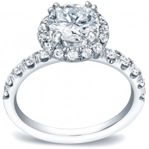 Gold 1 3/5ct TDW Certified Round Diamond Engagement Ring - Custom Made By Yaffie™