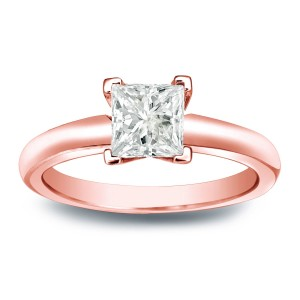 Gold 1/4ct TDW Princess-cut Diamond V-End Solitaire Engagement Ring - Custom Made By Yaffie™