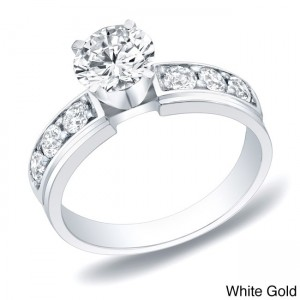 Gold 1ct TDW Round Diamond Engagement Ring - Custom Made By Yaffie™