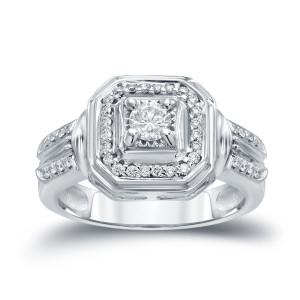 Gold 2/5ct TDW Round Diamond Engagement Ring - Custom Made By Yaffie™