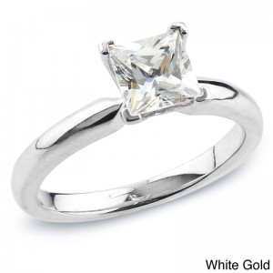 Gold 3/4ct TDW Certified Princess-cut Diamond Solitaire Engagement Ring - Custom Made By Yaffie™
