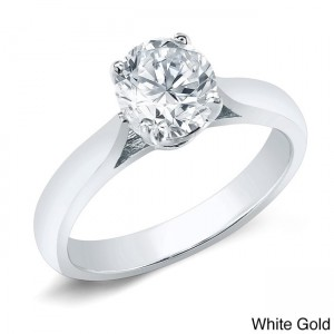 Gold 3/4ct TDW Certified Round Diamond Solitaire Ring - Custom Made By Yaffie™