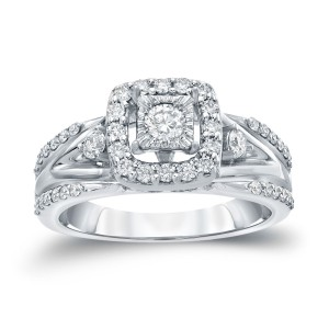 Gold 3/5ct TDW Round Diamond Engagement Ring - Custom Made By Yaffie™