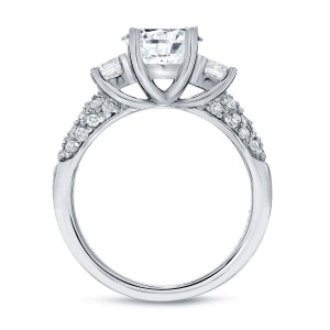 White Gold 1 3/4ct TDW Certified Round Diamond Engagement Ring - Custom Made By Yaffie™