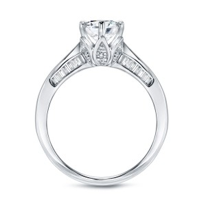 White Gold 1ct TDW Certified Round Diamond Engagement Ring - Custom Made By Yaffie™